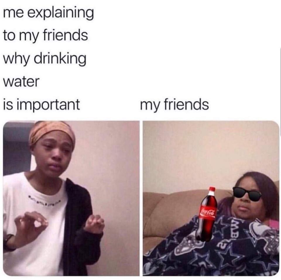 friend drinking coke