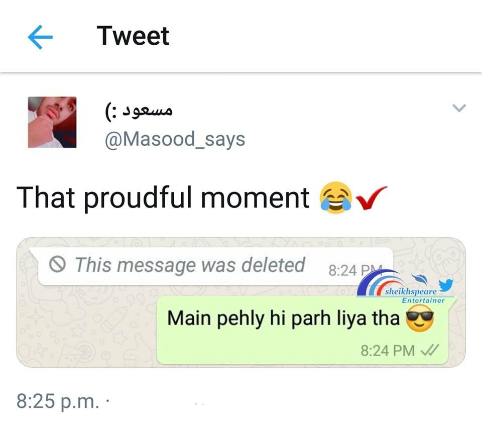 That proudful moment