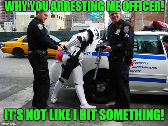 Why you arresting me officer !