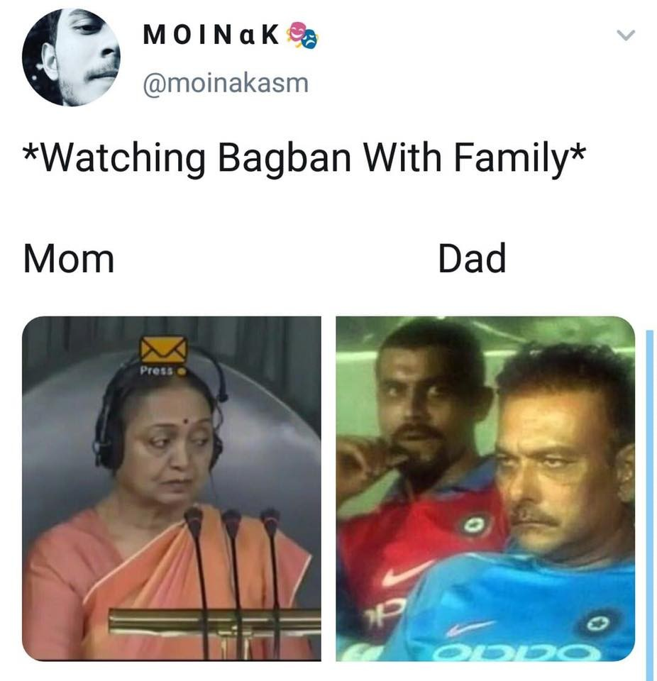 watching Bagban with Family