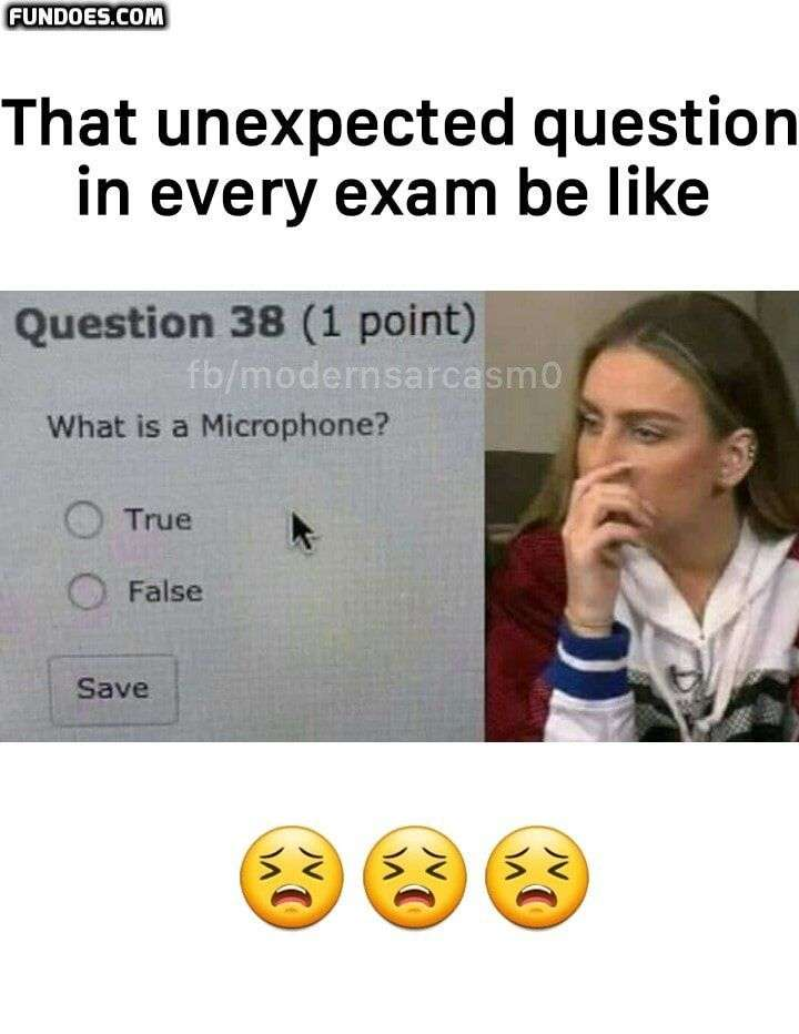 Unexpected Question in exams