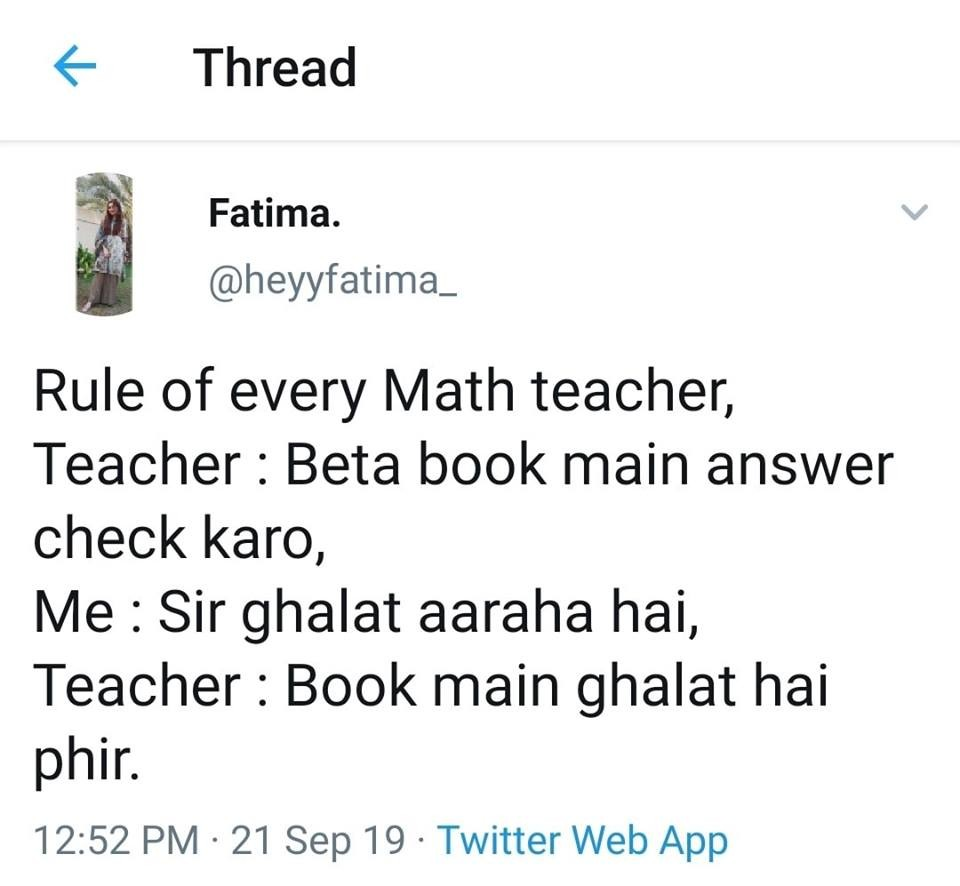 Teacher is always Right