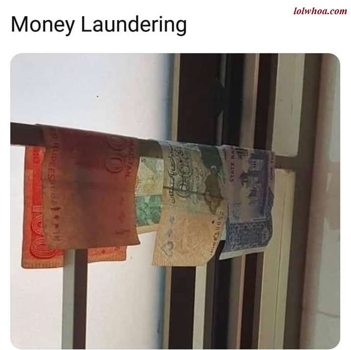 funny joke money laundering