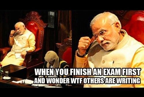 when you finish exam first