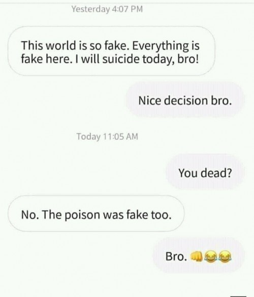 everything is fake