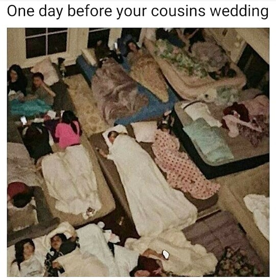 one day before cousins wedding